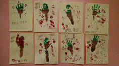 The preschool apple trees!  Using their arms, hands & fingers