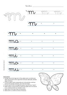 Cursive Alphabet, Alphabet Writing, Preschool Writing, Preschool Learning Activities, Spanish Lessons For Kids, French Language Lessons, French Language Learning, Learning Spanish, Cursive Writing Practice Sheets