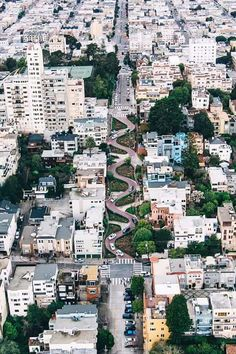 The Crookedest Street in San Francisco