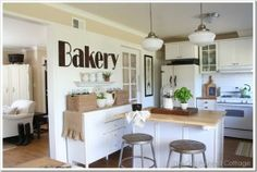 Cottage tour - filled with fabulous DIY ideas.  I want to live here!