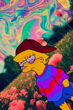 Find more awesome trippy images on PicsArt. Wallpaper Collage, Hippie Wallpaper, Trippy Wallpaper, Mood Wallpaper, Aesthetic Pastel Wallpaper, Iphone Background Wallpaper, Simpson Wallpaper Iphone, Cartoon Wallpaper Iphone, Psychedelic Art