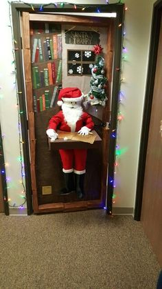 Door decorating contest for Christmas at the office. First place winner! School Door Decorations, Office Christmas Decorations, Christmas Ideas, Christmas Crafts, Christmas Door Decorating Contest, Holiday Decorating, Classroom Door, Classroom Ideas, Decorating Office