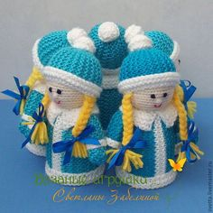 """Купить """"Танец Снегурочек"""" вязаные игрушки - Новый Год, дед мороз, Праздник, подарок"""
