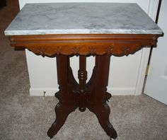 Perfect Antique Marble Top Table