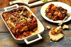 Μοσχάρι κοκκινιστό με μελιτζάνες και φέτα (3.05.16) Greek Cooking, Greek Recipes, Lasagna, Feta, Pork, Ethnic Recipes, Greek Beauty, Dinners, Lasagne