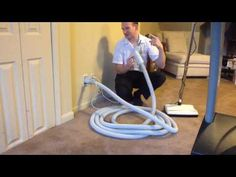Hose Genie - Central Vacuum Self-Retracting Hose System - YouTube