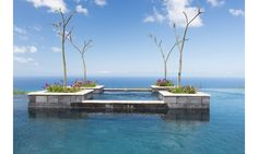 """Hotel: Belle Mont Farm at Kittitian Hill.  Location: St. Kitts.  Belle Mont Farm's 84 guesthouses all come with a private pool, but visitors are often drawn to the """"floating hot tub"""" in the property's main pool."""