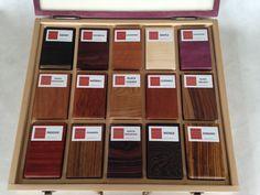 Drewno egzotyczne  - próbki litego drewna - zestaw  PREMIUM