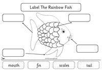 "rainbow fish worksheets | Heart My Kinder Kids: The Rainbow Fish and ""The Hat"" App"