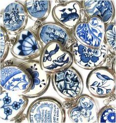 Blue Willow makes beautiful broken china jewelry