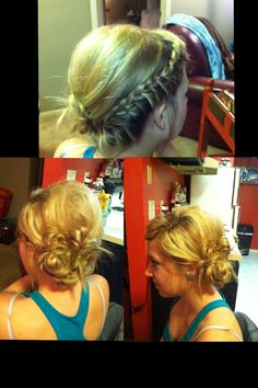 Half French Braid Updo
