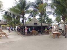 The beach Bar and Grill in Curacao