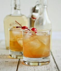 Bourbon, Apple and Ginger Sour- fresh ginger and bitters