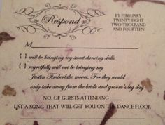 fun rsvp wedding cards - Google Search | Wedding Stationary ...