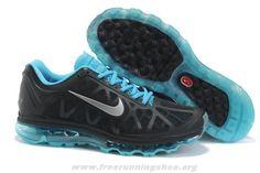 429889-040 Mens Nike Air Max 2011 Black Metallic Silver Chlorine