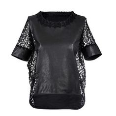 Lace Leather Shirt Women's, £244, now featured on Fab.