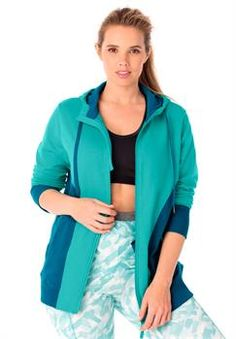 Plus Size Zip Hoodie Jacket in French Terry