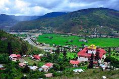 Ta Dzong View of Rinpung Dzong, Paro, Bhutan