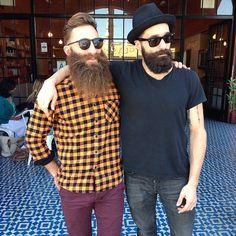 Jimmy Niggles and Luke Ditella - two amazing beards bearded men man full thick bushy mustache mustaches mens' street style handsome #beardsunited #beardsforever