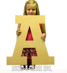 unfinished wooden letters a 24 x 38 thick