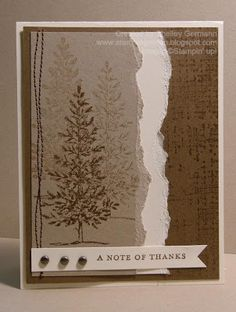 Stampin' Up! Lovely as a Tree and Thank You Kindly.