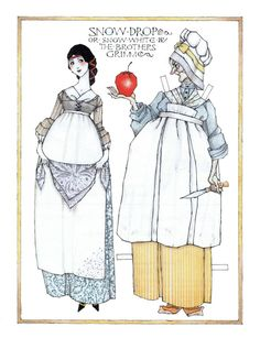 """Legacy Pride, Volume I Number IV: Fantasies & Fairy Tales: """"Snow White"""" and Wicked Queen paper doll by Donald Hendricks   Katerine Coss   Picasa Web Albums"""