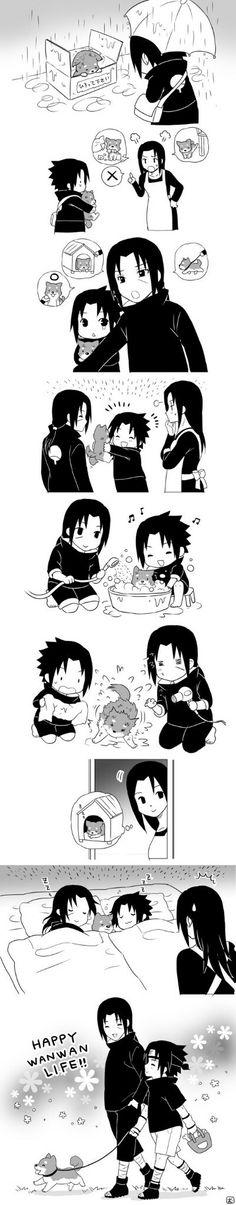 Anime: Naruto Personagens: Sasuke, Mikoto e Itachi Uchiha Anime Naruto, Comic Naruto, Naruto Fan Art, Naruto Cute, Naruto Funny, Sasuke Und Itachi, Naruto Uzumaki Shippuden, Sarada Uchiha, Naruto Mignon