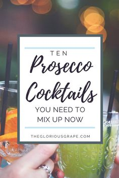 Get your bar tools out and channel your inner mixologist because we'll be crafting some Prosecco cocktails in Part 3 of TGG's 6 Part Prosecco Series! Prosecco Cocktails, Summer Cocktails, Cocktail Drinks, Cocktail Recipes, Bar Drinks, Light Recipes, Wine Recipes, Strawberry Banana Milkshake, Recipe For Teens