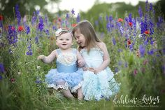 Dallas Family Photographer, wildflowers, siblings, blue, doll cake dresses Dallas, Dress Cake, Photographing Kids, Wildflowers, Daisies, Siblings, Family Photographer, Baby Girls, Flower Girl Dresses