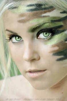 #camo #makeup #hotdamebeauty ! I LOVE THIS !