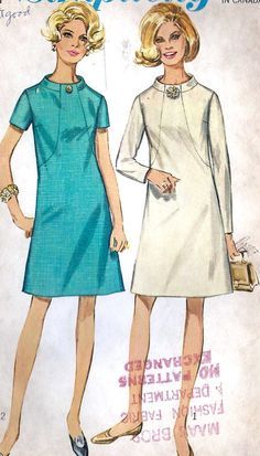 1960s Misses Dress Misses Vintage Sewing by MissBettysAttic, $10.00