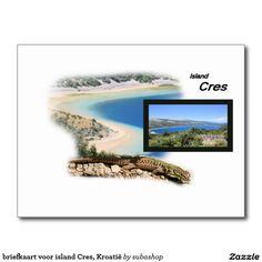briefkaart voor island Cres, Photo, tourism, Europe, Croatia, Croatian, Adriatic sea, Adriatic , Mediterranean, Istrie, Kvarner, Cres, island Cres, island, otok Cres, eiland Cres, vacation, travelling, journey, holiday, holidays, holiday, voyage, reizen, vakantie, Kroatie, postcard, postcards, design,  Originele postkaarten voor het eiland Cres in Kroatië met een heel nieuw design. Ook verkrijgbaar ZONDER TEKST zodat je ze kan personaliseren