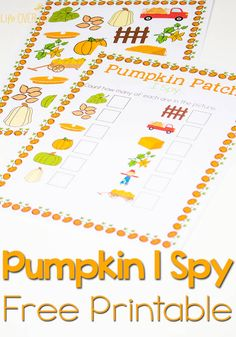 This free pumpkin patch I Spy printable is a perfect activity for counting with preschoolers. Plus, I love the scavenger hunt option. It will be great for when we go to the pumpkin farm. (autumn activities for kids scavenger hunts) Fall Preschool Activities, Learning Activities, Preschool Farm, Preschool Projects, Free Preschool, Preschool Curriculum, Kindergarten Activities, Science Projects, Family Activities