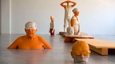With such a great name you know this guy is going to be good, and boy is he. Italian sculptor Willy Verginer produces outstanding figurative sculptures and installations using the traditional craft of woodcarving.