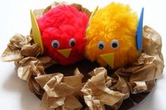 Bird Crafts Preschool, Fun Crafts For Kids, Craft Activities For Kids, Toddler Crafts, Easter Crafts, Art For Kids, Craft Kids, Kids Fun, Spring Art