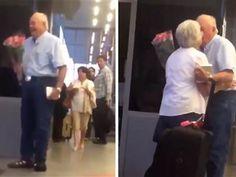 'True love': Watch elderly couple reunite at airport in heartwarming clip