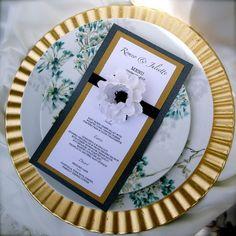 Anemone Wedding Menu Cards designed  by DragonflyExpression