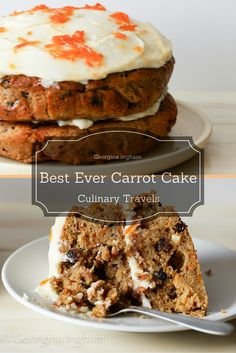 Carrot Cake - Elly Pear's Best Ever. Filled with Carrot Jam and topped with an Easy Mascarpone Frosting.
