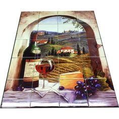 Hangable Tile Mural  / Kitchen Backsplash / Kitchen Art /