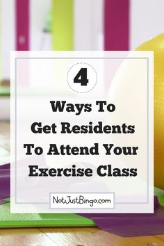 Do your senior residents attend Exercise Class? If you struggle to get them to attend, learn 4 tips on how to get seniors to attend and stay at the physical activities you plan at your assisted living facility. Assisted Living Activities, Exercise Activities, Elderly Activities, Senior Activities, Physical Activities, Dementia Activities, Craft Activities, Physical Education, Elderly Crafts