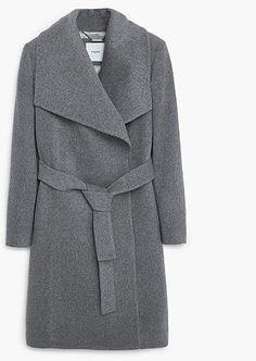 Womens grey trench coat from Mango - £139.99 at ClothingByColour.com