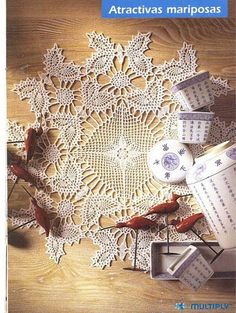 Lace Crochet Mat from Ganchillo Artistico number 286 or a really big doily?