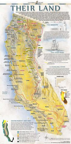 The first graphics from the six-part series on California Indians. You can find a story on the background plus links as the series progresses here: Native American Decor, Native American Tribes, Native American History, Indian Tribes, Native Indian, North America Map, California History, Native Design, Medicine Wheel