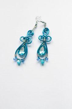 Boucles d'oreilles turquoise par skyforged