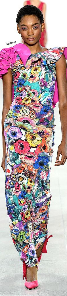 Chiara Boni La Petite RTW Spring 2019 Bold And The Beautiful, Colorful Fashion, Color Mixing, Flower Power, Peplum Dress, Floral Prints, Gowns, Spring, Flowers