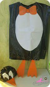 Patypeando: Un blog Muy DIY: Disfraz diy con bolsas de basura de Pingüino
