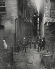 Mullen's Alley, Cherry Hill. New York, 1888. By Jacob Riis