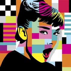 Audrey Hepburn, amazing pop art by splitting the illustration into sections Comic Art, Art Painting, Art Photography, Sketches, Illustration Art, Pop Art Painting, Andy Warhol, Art Movement, Street Art