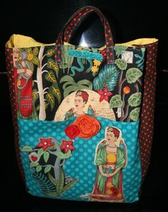 Frida Kahlo MEXICAN Vintage Style Slouchy by vanessaandcompany, $135.00