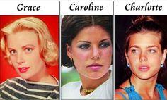 Grace,Caroline and Charlotte | generations of beauty: Grace Kelly, Caroline Grimaldi, Charlotte ...